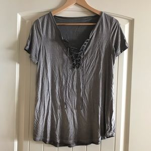 NWOT American Eagle Lace Up Top